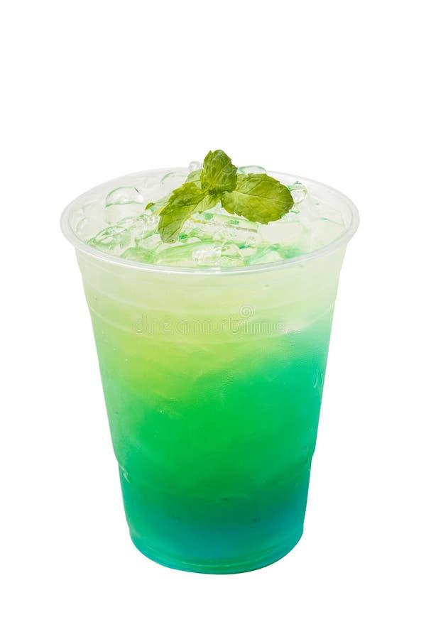 Bebida para llevar de la soda italiana del kiwi fotografía de archivo libre de regalías