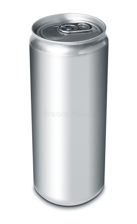 A bebida pode do alumínio em branco imagens de stock