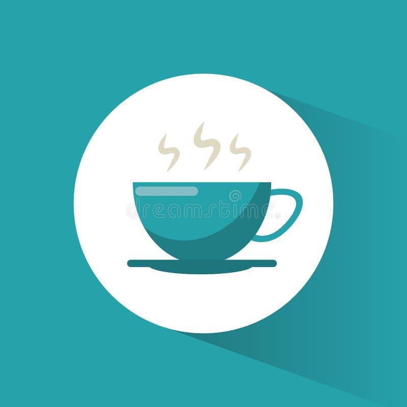 bebida quente do copo de café ilustração do vetor