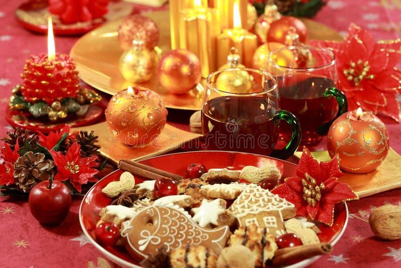 Bebida quente para o Natal fotos de stock