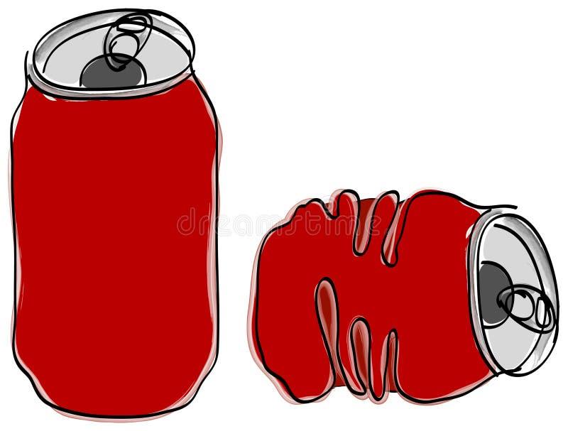 A bebida sem álcool pode ilustração do vetor