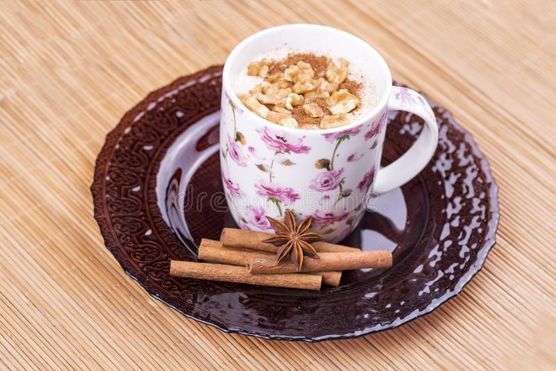 Bebida tradicional do turco; Boza ou Bosa fotos de stock royalty free