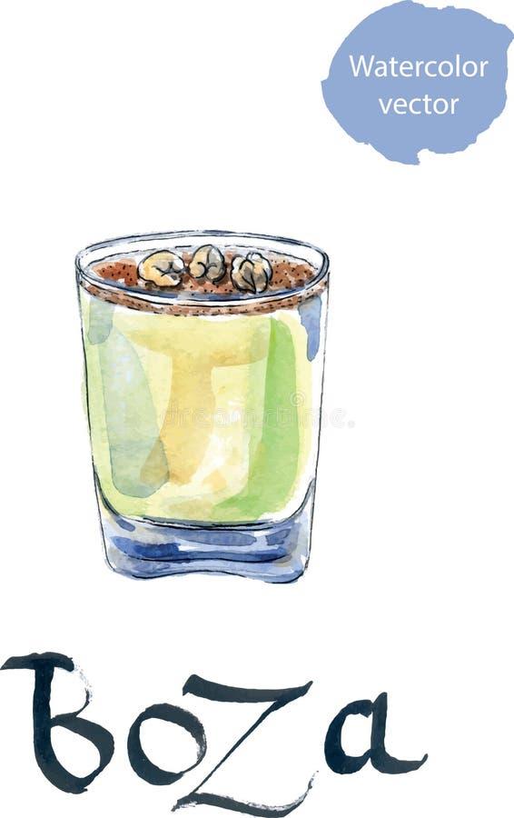 A bebida tradicional do turco chamou Boza ilustração do vetor