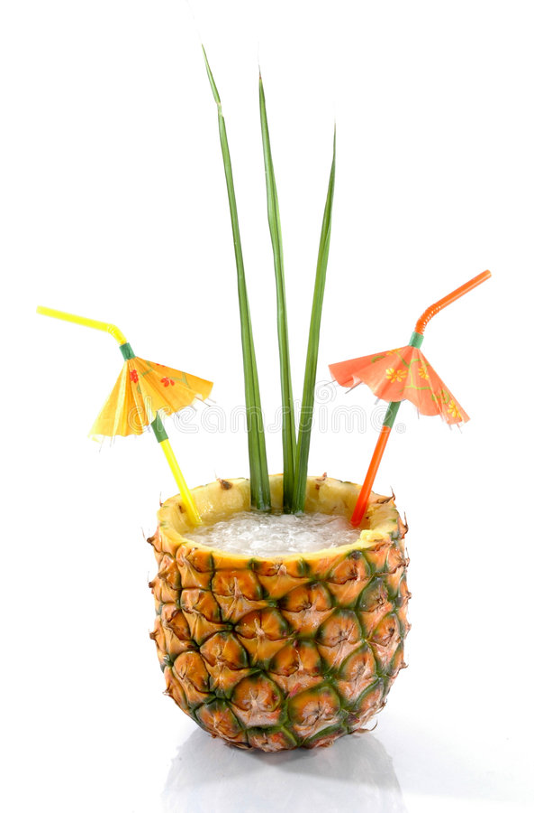 Bebida tropical 1 de la piña imágenes de archivo libres de regalías