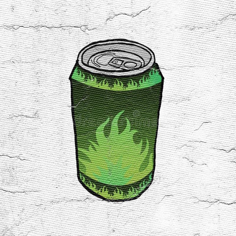 A bebida verde pode ilustração stock