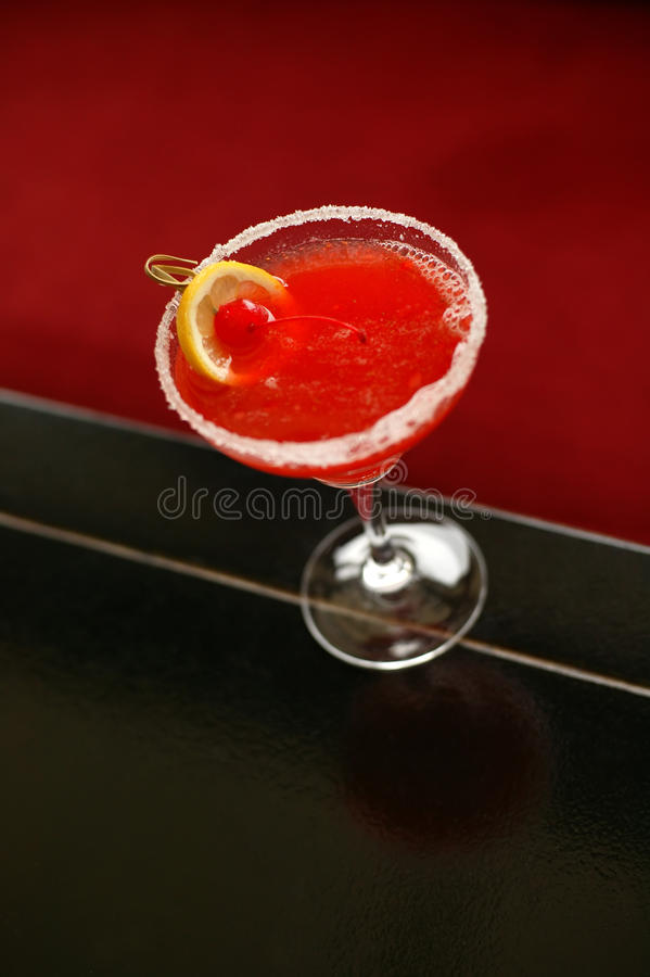 Bebida vermelha do chinês foto de stock