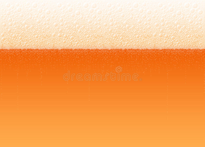 Bebida vermelha fria realística do fundo das bolhas da espuma da cerveja ilustração do vetor
