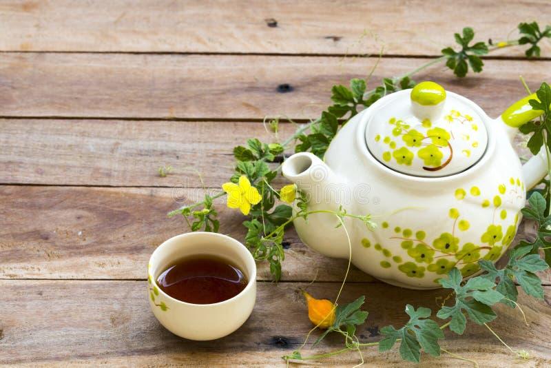 Bebidas à base de plantas chá quente, bule e flor para cuidados de saúde arranjo de estilo de vida estilo de postcard plano foto de stock royalty free