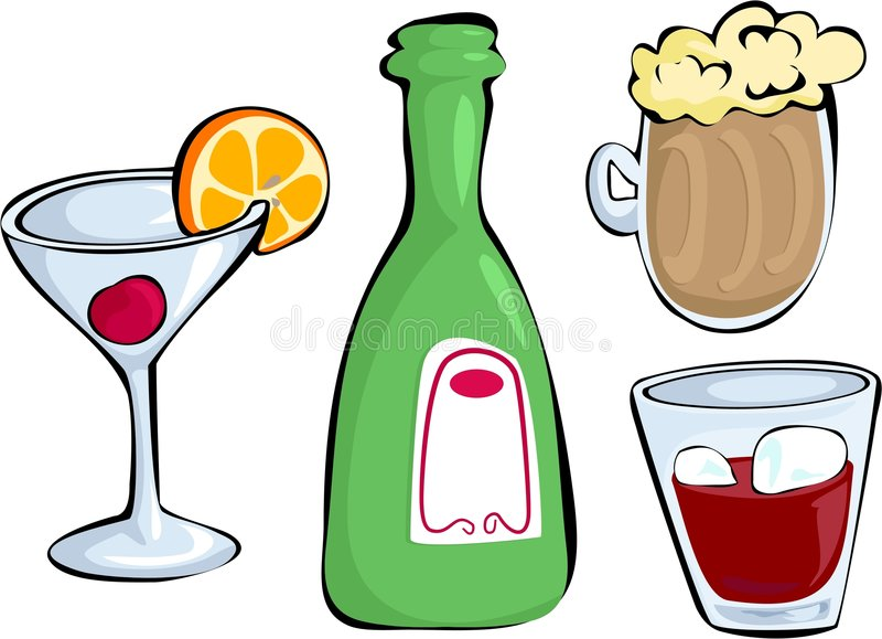 Bebidas stock de ilustración