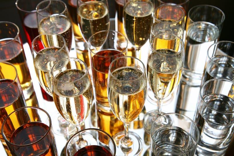 Bebidas imagem de stock