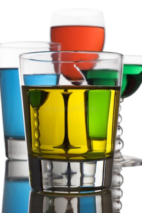 Bebidas alcoólicas coloridas fotos de stock royalty free