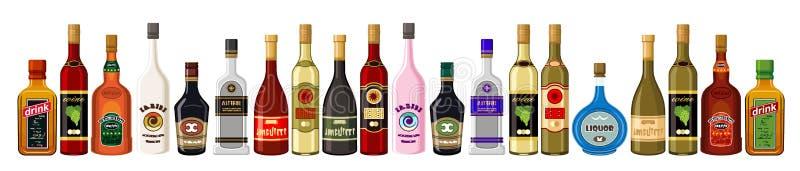 Bebidas alcoólicas da bandeira. ilustração stock