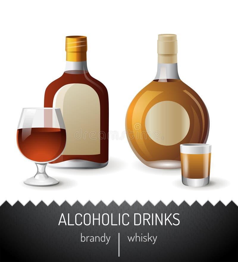 Bebidas alcohólicas ilustración del vector