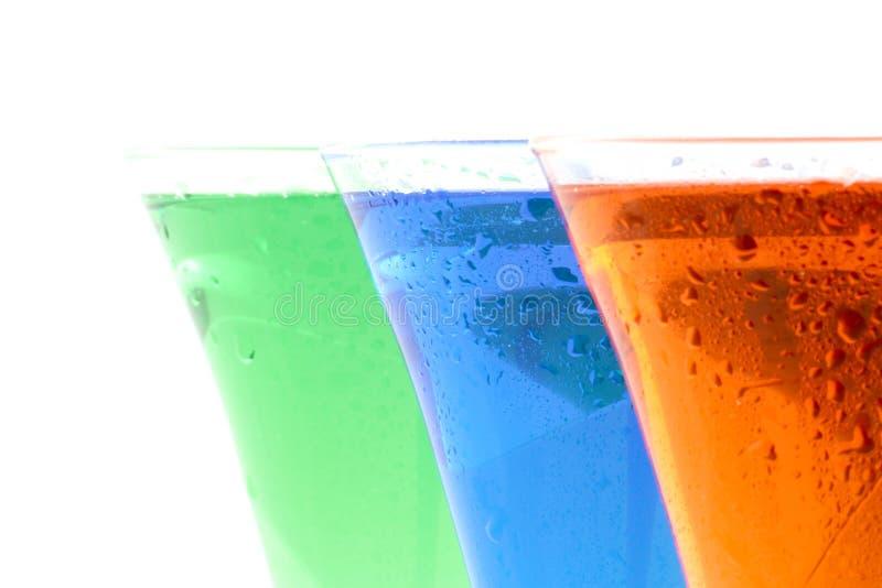 Bebidas coloridas imagem de stock