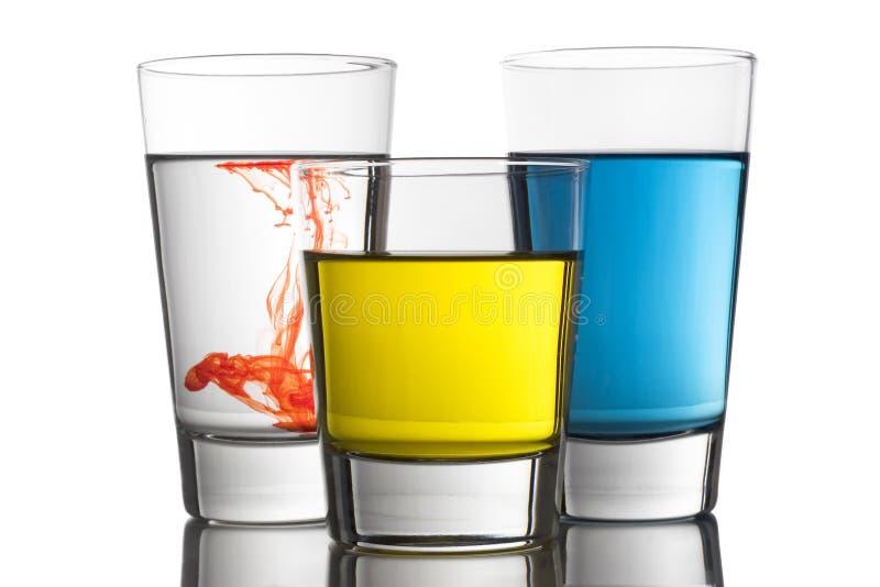 Bebidas coloridas foto de archivo