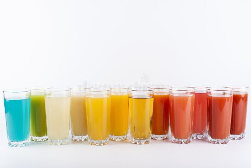 Bebidas coloridas fotografia de stock