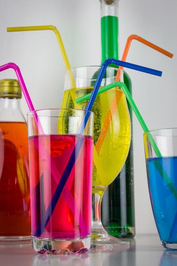 Bebidas coloridas fotografía de archivo libre de regalías