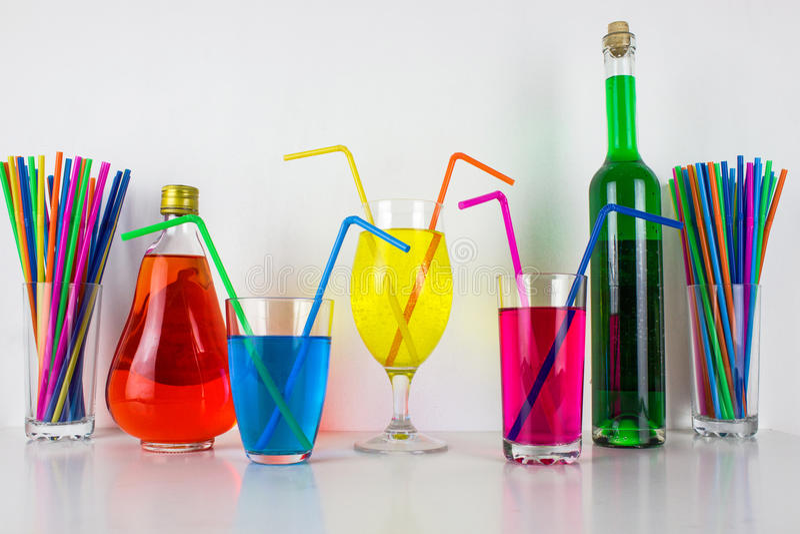 Bebidas coloridas fotos de archivo libres de regalías