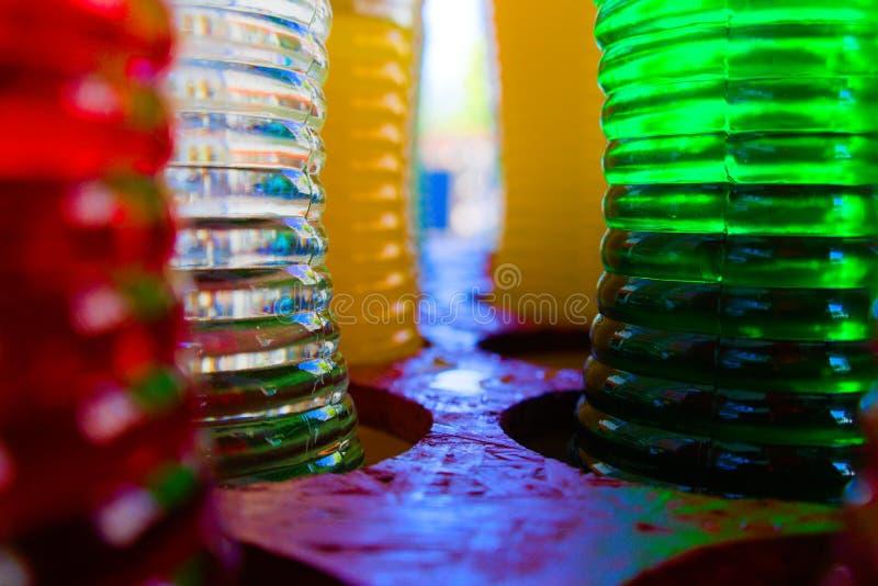 Bebidas coloridas de los jarabes foto de archivo libre de regalías