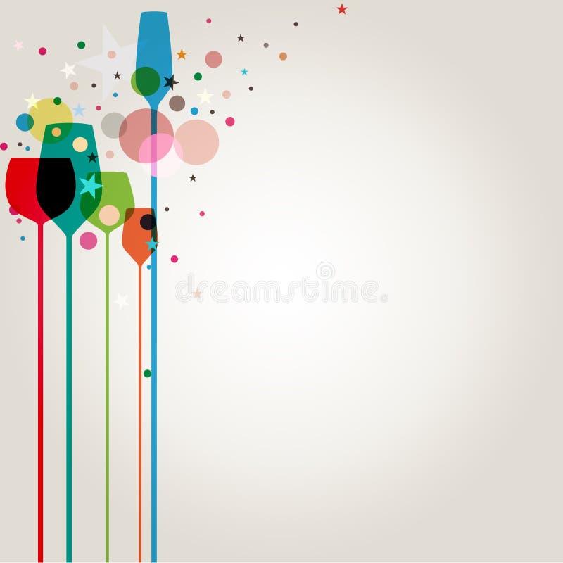 Bebidas coloridas del partido stock de ilustración