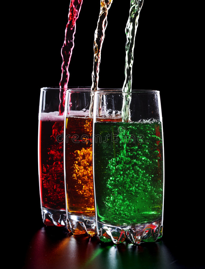 Bebidas coloridas II imagem de stock