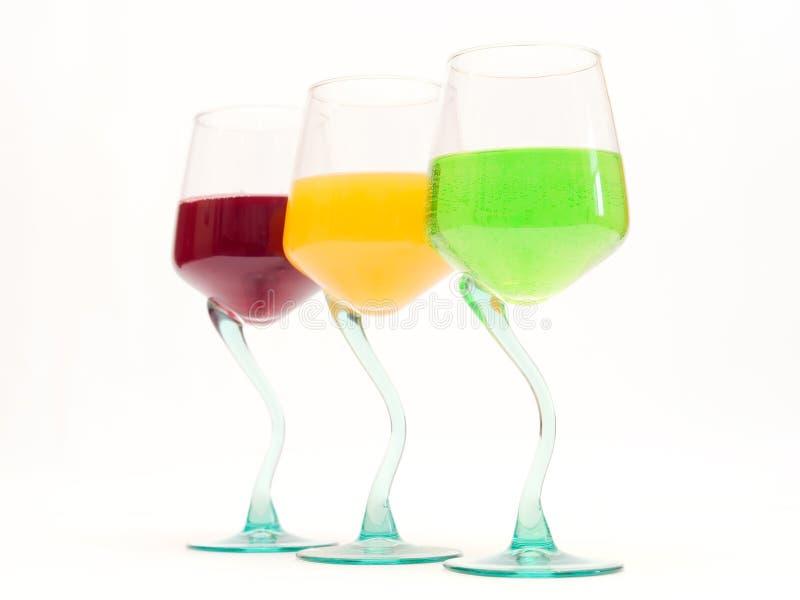 Bebidas da cor imagens de stock