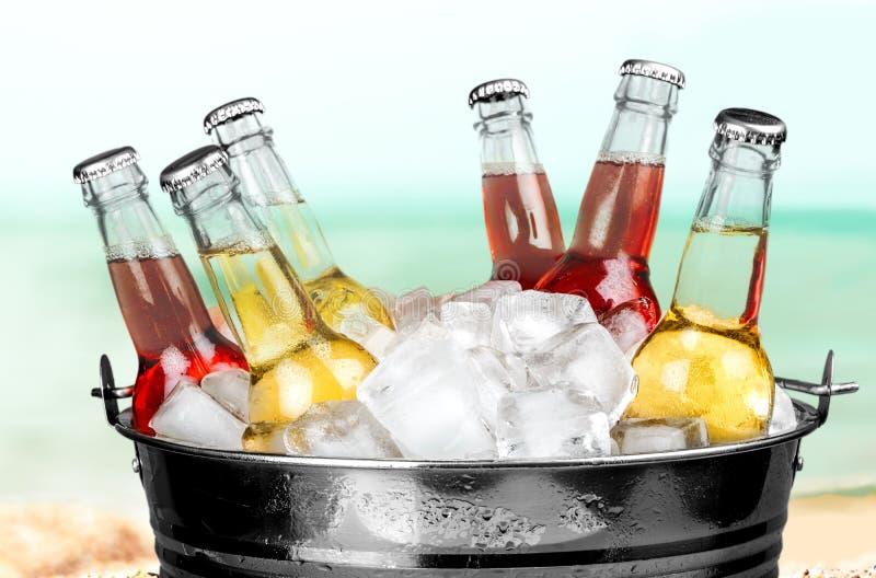 Bebidas da garrafa fotografia de stock