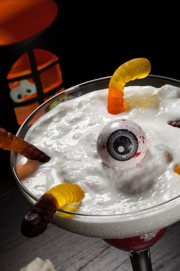 Bebidas de Dia das Bruxas - daiquiri de Vanila da framboesa fotografia de stock