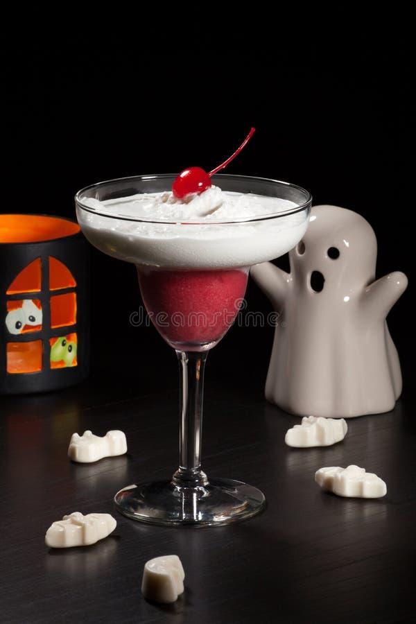 Bebidas de Halloween - daiquirí de Vanila de la frambuesa foto de archivo libre de regalías