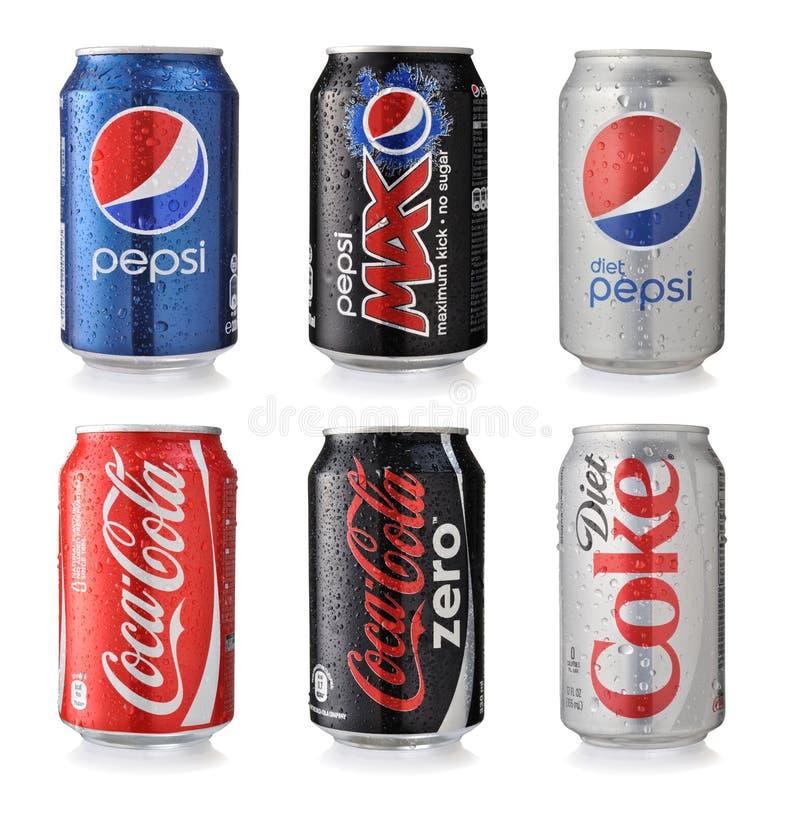 Bebidas de la soda fotografía de archivo