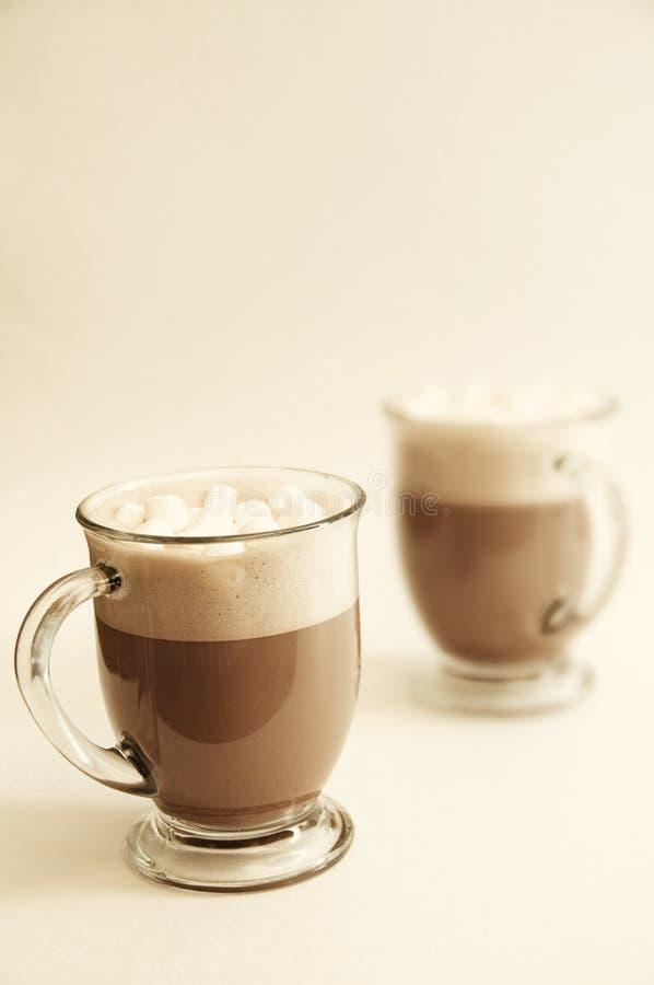 Bebidas del chocolate caliente fotos de archivo libres de regalías