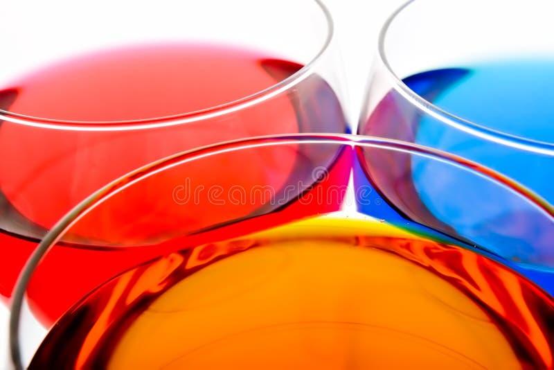 Bebidas del color fotos de archivo
