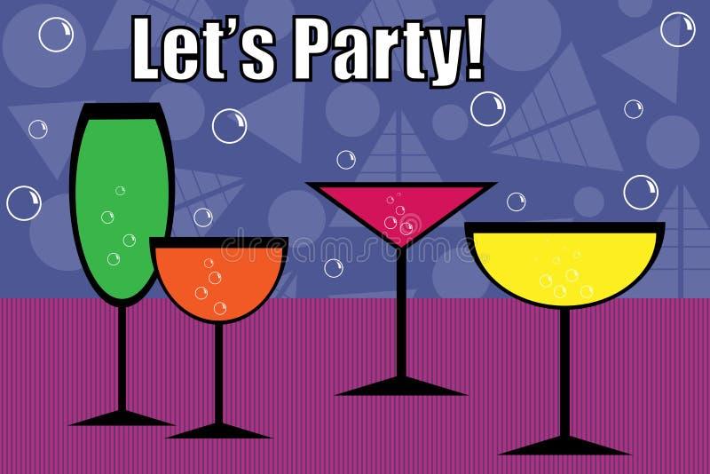 Bebidas del partido - vector stock de ilustración