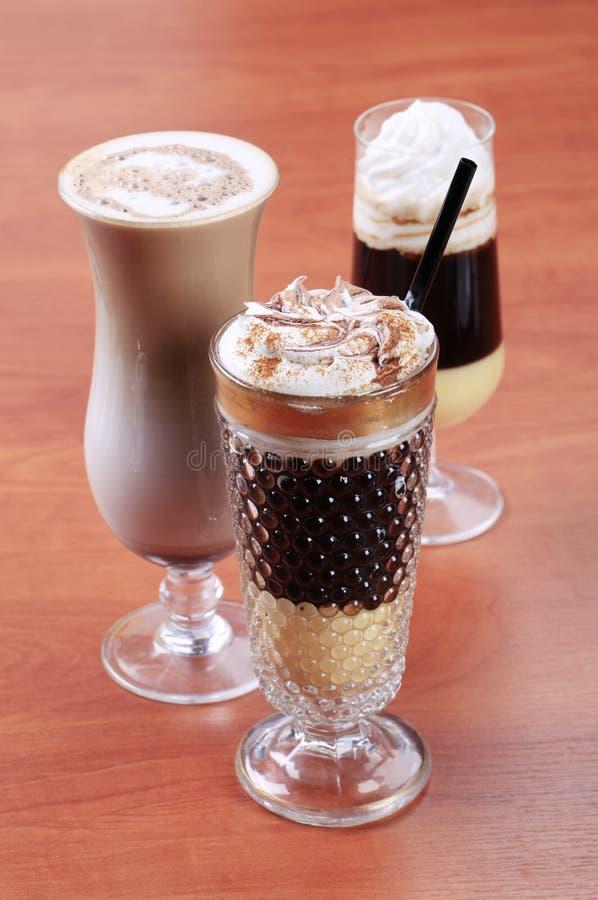 Bebidas do café imagens de stock