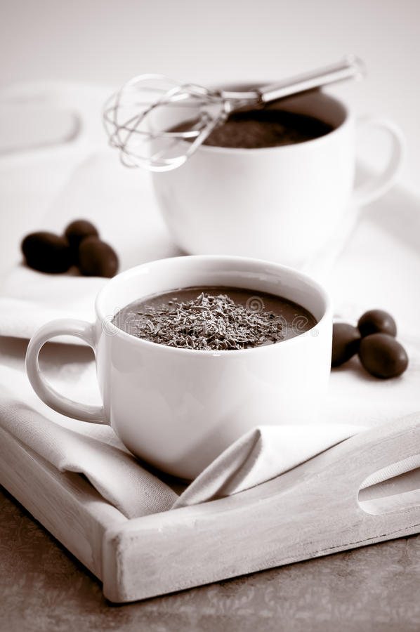 Bebidas do chocolate quente fotos de stock royalty free