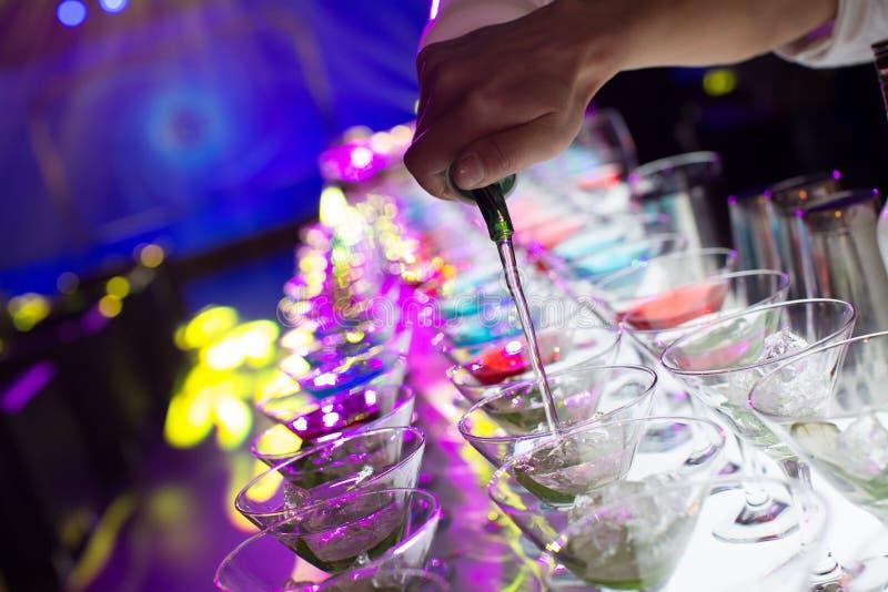 Bebidas do cocktail imagem de stock