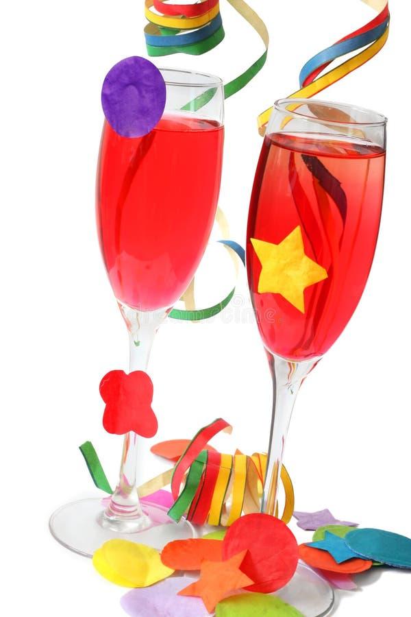 Bebidas do partido fotografia de stock royalty free