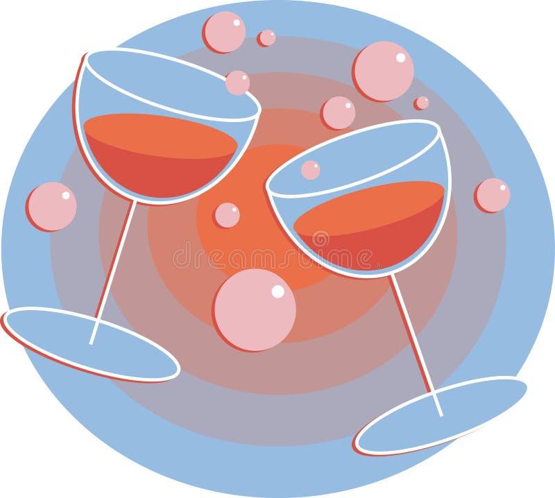 Download Bebidas do partido ilustração do vetor. Ilustração de romântico - 54856