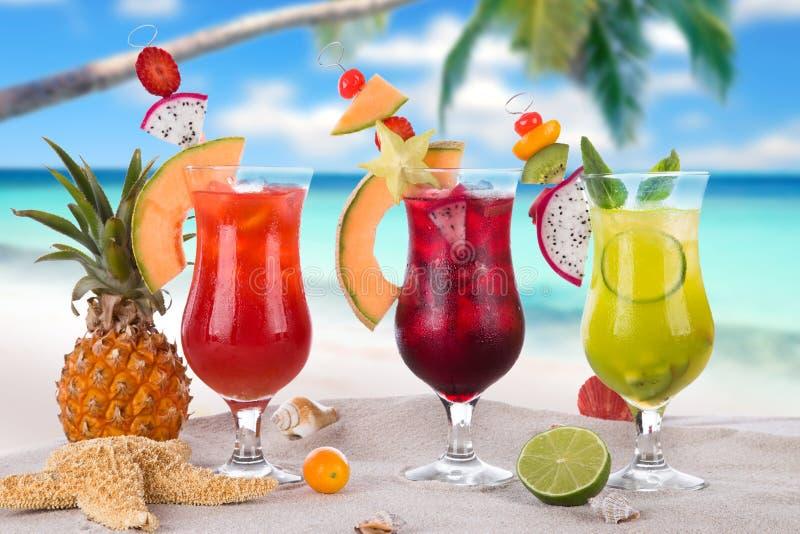 Bebidas do verão fotografia de stock