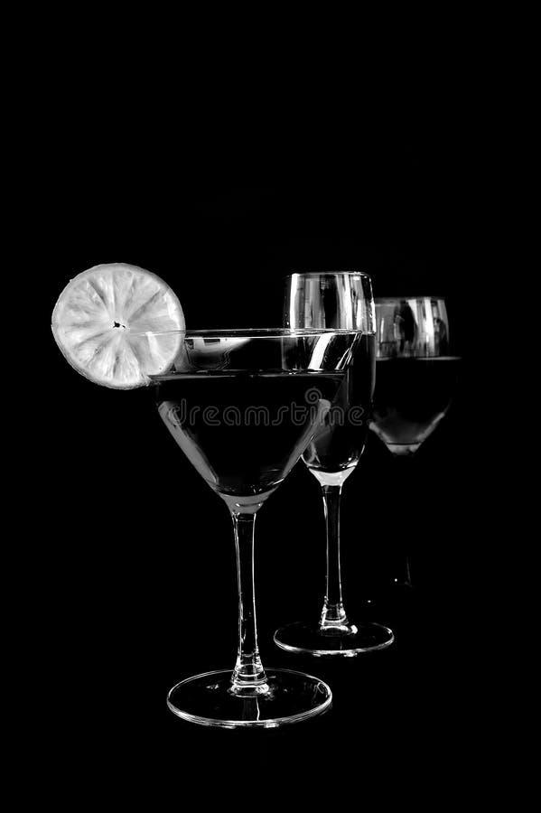 Bebidas en trío imagenes de archivo
