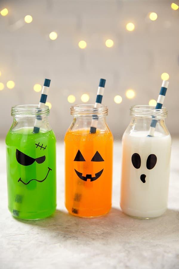 Bebidas lindas de Halloween imágenes de archivo libres de regalías