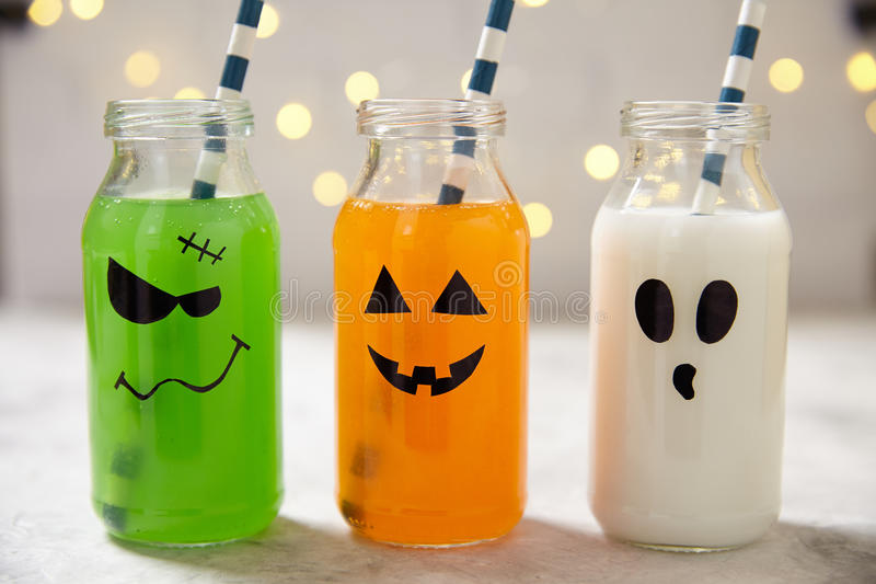Bebidas lindas de Halloween foto de archivo libre de regalías