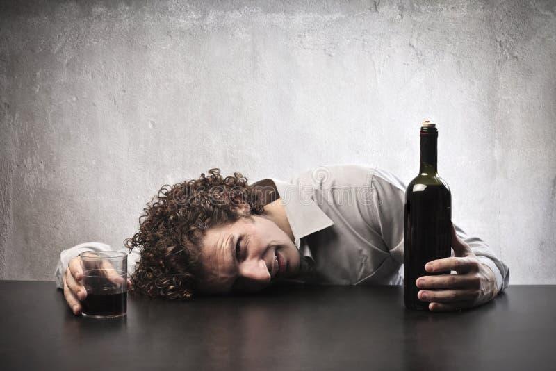 Bebido com vinho fotografia de stock