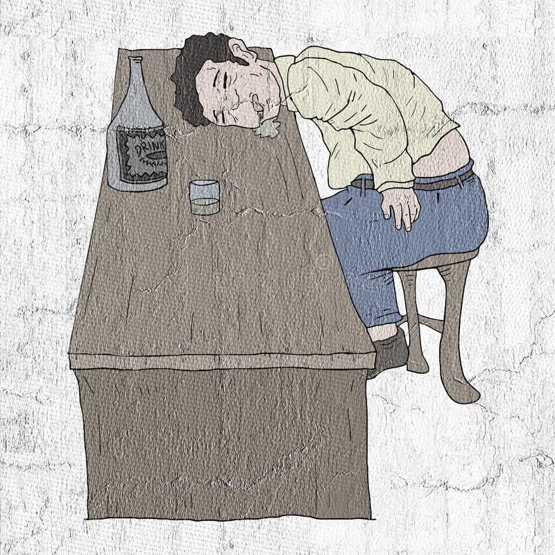 Bebido en pub libre illustration