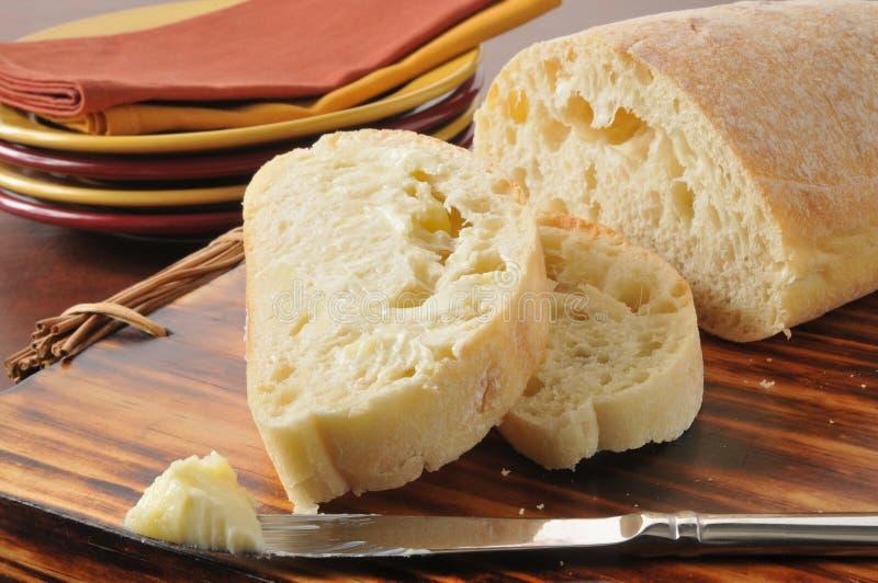 Beboterd brood stock afbeelding