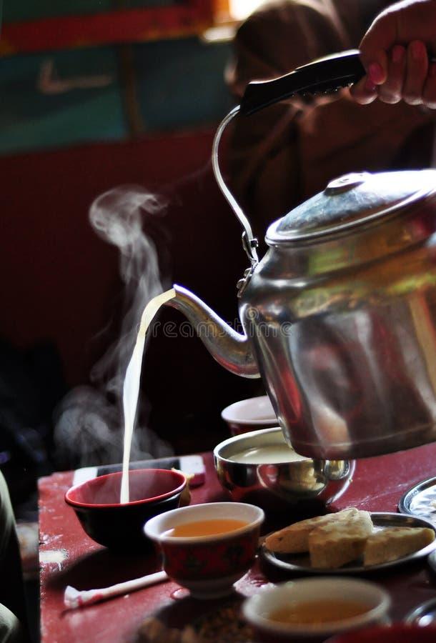 Beboterde thee stock foto