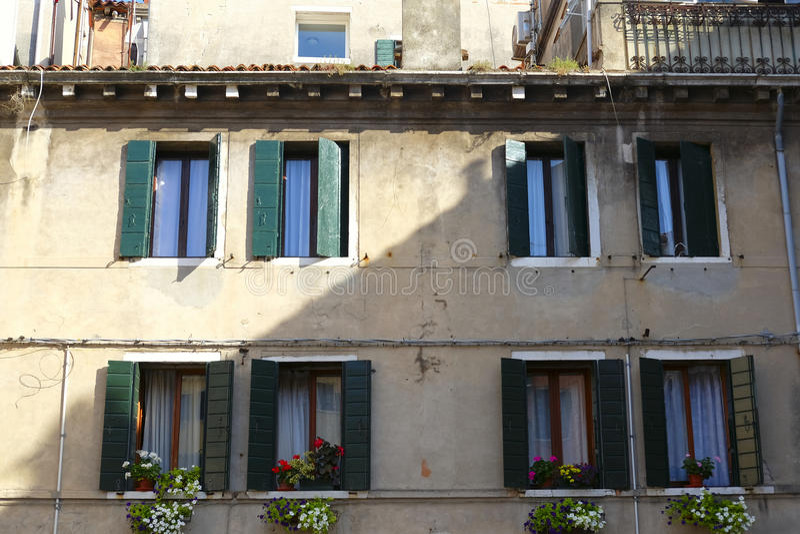 bebott hus i Venedig arkivbild