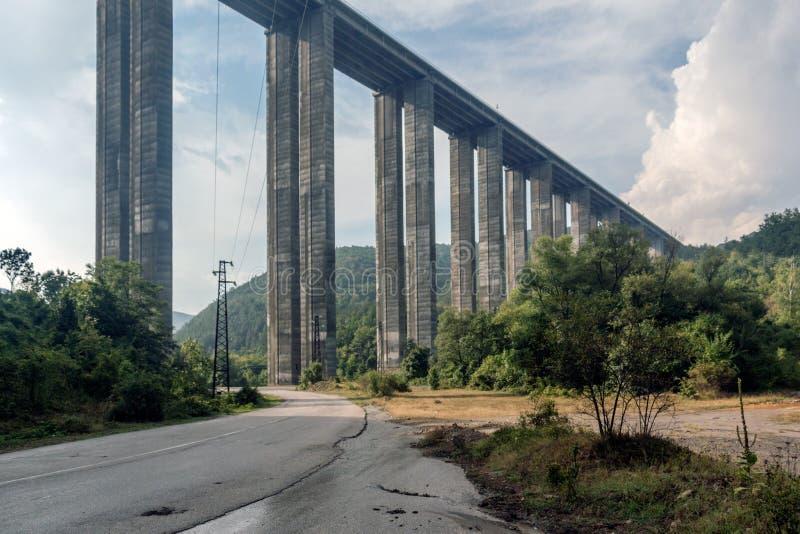 Bebresh-Viadukt, Hemus-Autobahn, Bulgarien stockfotos