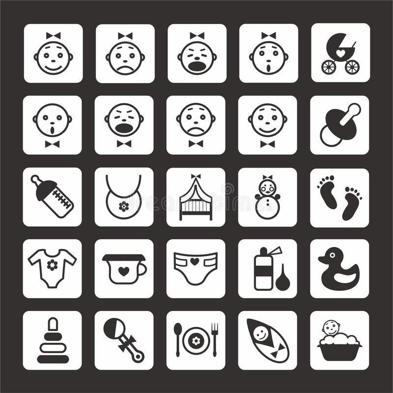 Beby icons set