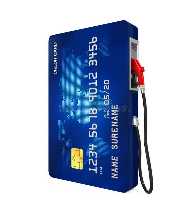 Bec de carte de crédit et de pompe à gaz illustration libre de droits